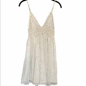 Star Print White Dress